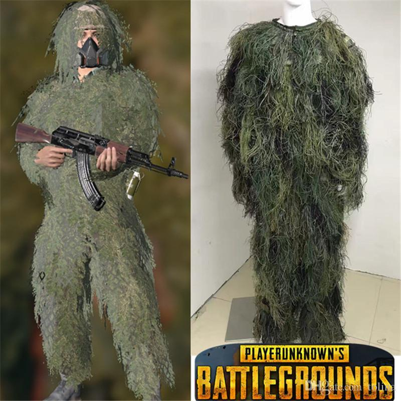 BAG Halloween Game Costume Playerunknown Battlegrounds PUBG Ghillie Suit Cosplay  Costume Camouflage Clothing 3 Person Costumes Theater Costumes From Tolina,  ...