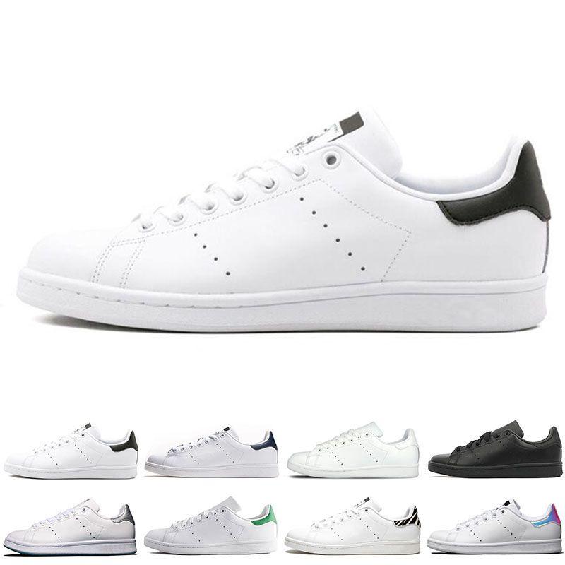 7463a92987 Compre Adidas Original Smith Hombres Mujeres Zapatos Casuales Verde Negro  Blanco Azul Rojo Rosa Plata Para Hombre Stan Zapatos De Cuero De Moda  Zapatillas ...