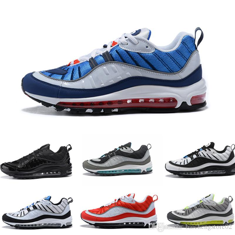 cheap cheap online find great sale online 98s size 40-46 2018 Vapormax 98 Bullet Running Shoes Men designer shoes Corss Jogging Walking Sports Athletic mens Run Shoes Outdoor Sneaker mvYXO
