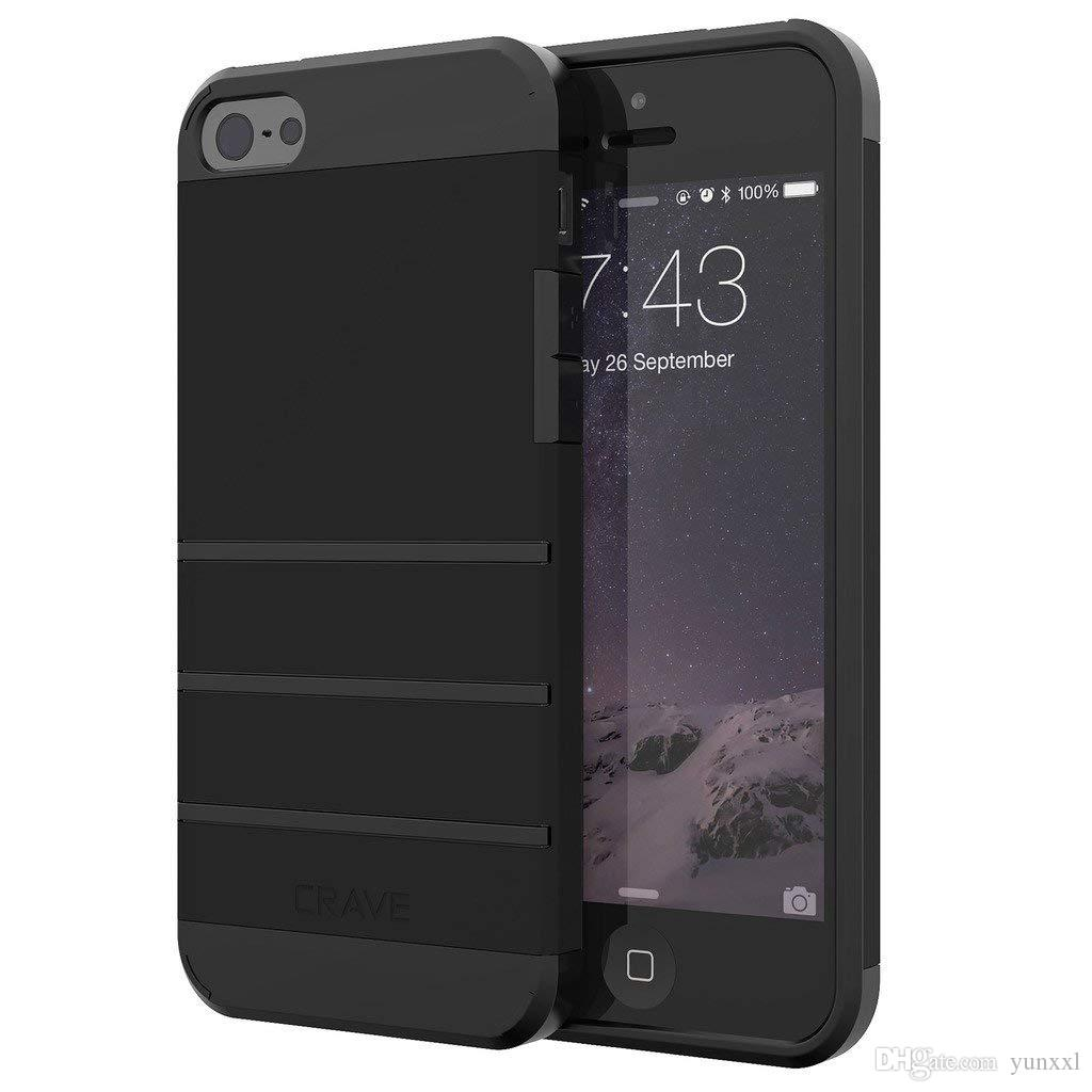 46f6dc89c20 Compre Crave Funda IPhone SE, Funda IPhone 5s, Estuche Protector Serie  Strong Guard Para IPhone 5 5s SE Negro A $30.16 Del Yunxxl | DHgate.Com