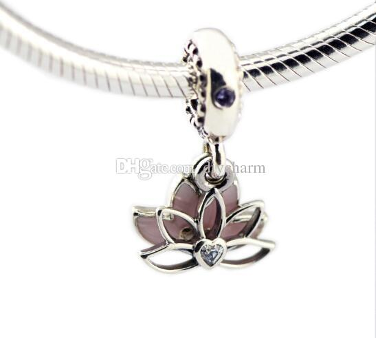 2021 Fits For Pandora Bracelet Charms Lotus Silver Dangle Charm Beads Original 925 Sterling Silver Diy Jewelry 2018 Mothers Day From Diycharm 19 28 Dhgate Com