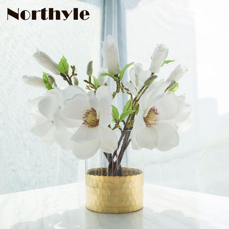 Golden Honeycomb Theme Floor Vase Home Decoration Glass Vase For