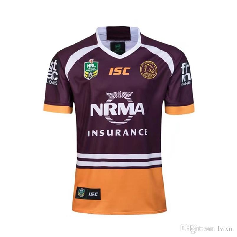 Newest Brisbane Broncos Home Away Rugby18 Jerseys NRL National Rugby League  Shirt Nrl Jersey 2018 2019 BRISBANE BRONCOS Shirts S-3xl Italy RUGBY  Australia ... 4426c0528
