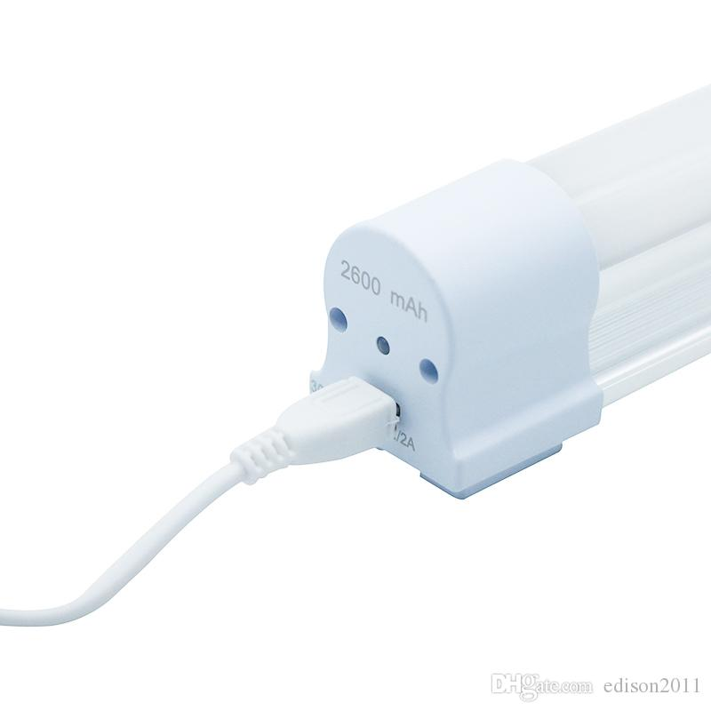 Edison2011 5V USB wiederaufladbare LED-Röhre Notfallröhre LED-Lampe Licht im Freien tragbare LED-Campping-Lampe mit Notfall-SOS-Modus