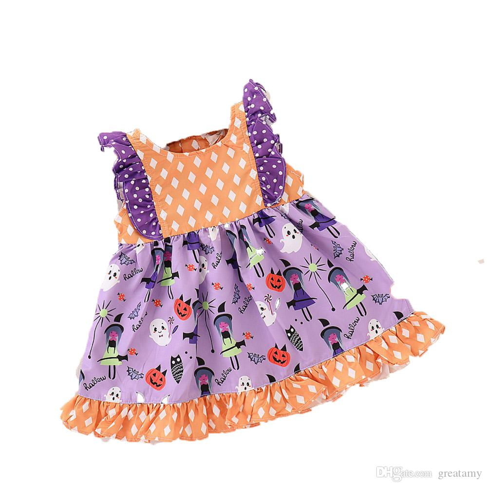 2018 halloween baby party dress baby girl dress infant skirts new