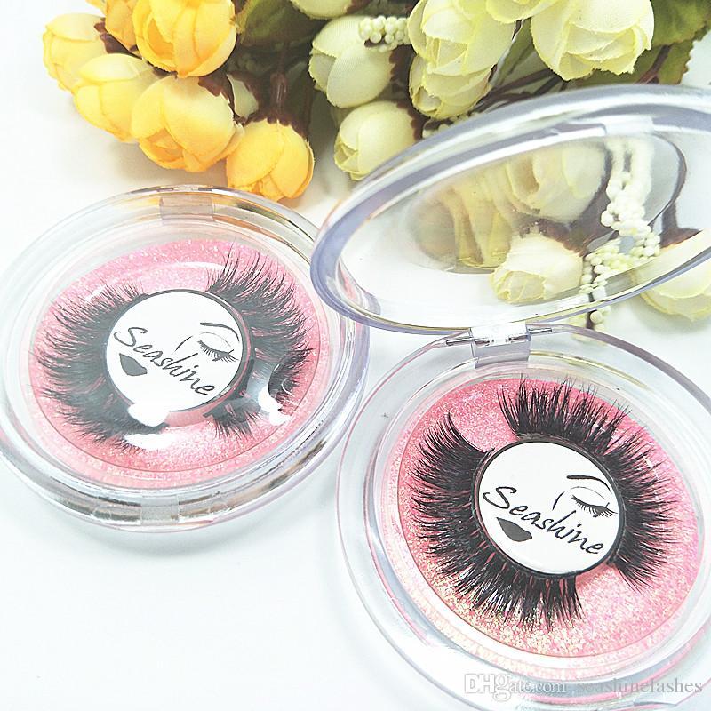 Seashine Women Eyelashes Natural Black Thick Soft Long Handmade False Eyelashes Luxurious Real Mink Hair Makeup Extension Beauty