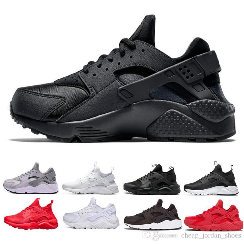 pretty nice 25967 522cb Free shipping Huarache ultra run shoes Triple white black red Men Womens  Running Shoes Huaraches mens sports Trainer shoes Sneaker Eur 36-45