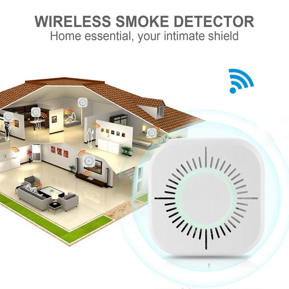 Back To Search Resultssecurity & Protection Access Control Accessories Smart Wireless 433mhz Alarm Security Smoke Fire Detector 85db Home Security System For Indoor Shop Smoke Alarm Sensor
