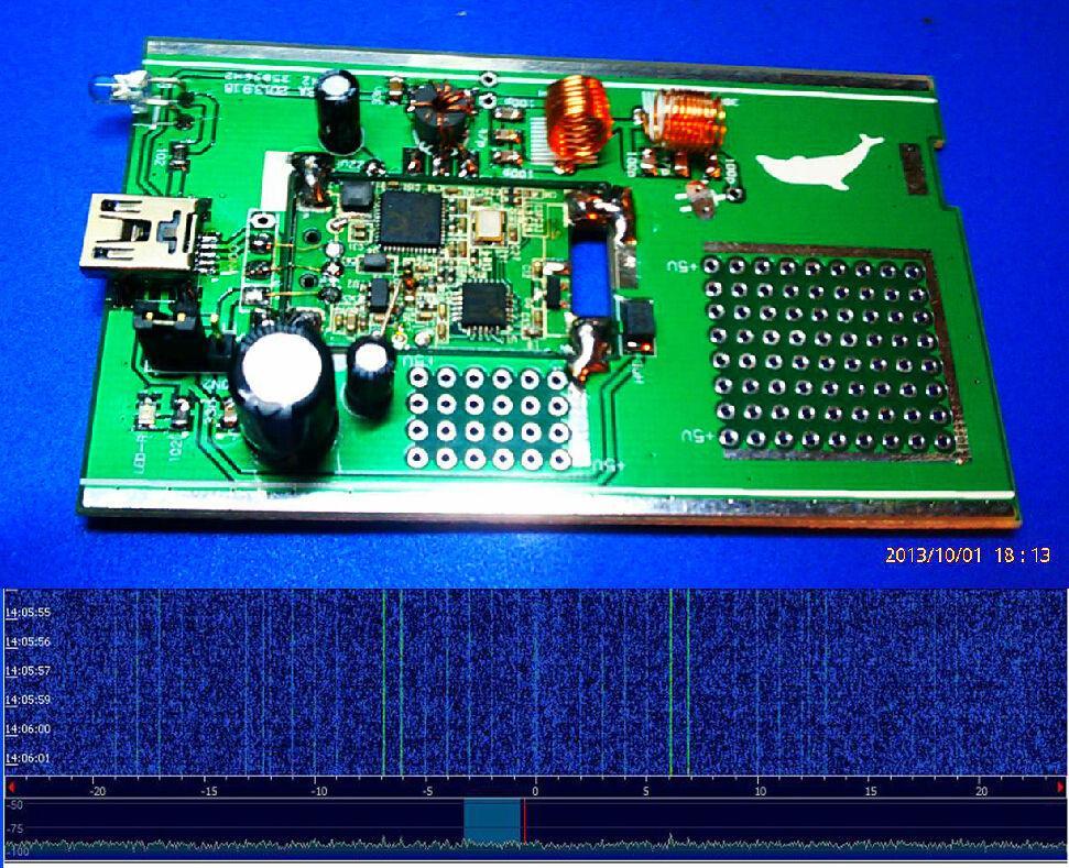 Freeshipping DIY KITs 100KHz-1 7GHz full band UV HF RTL SDR USB Tuner  Receiver R820T RTL2832U R820T CW FM VHF UHF AM antenna