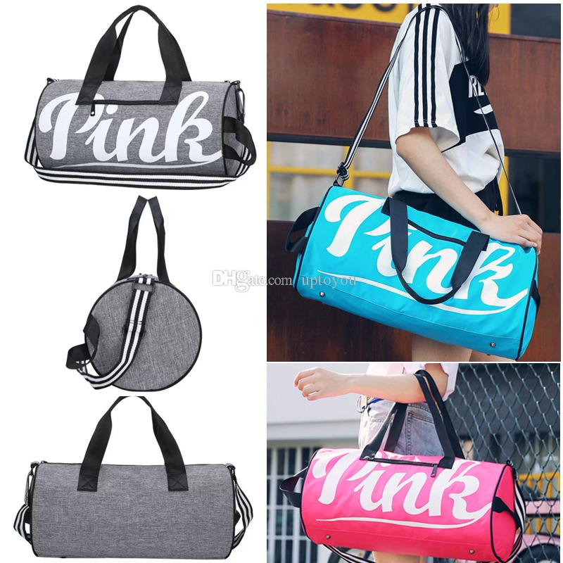 7c972ccc0ac4 Large PINK Letter Duffel Bags Fashion Organizer Travel Bag Waterproof  Casual Beach Sport Luggage Duffles Gym Yoga Fitness Handbag Totes Pink Yoga  Bag Pink ...