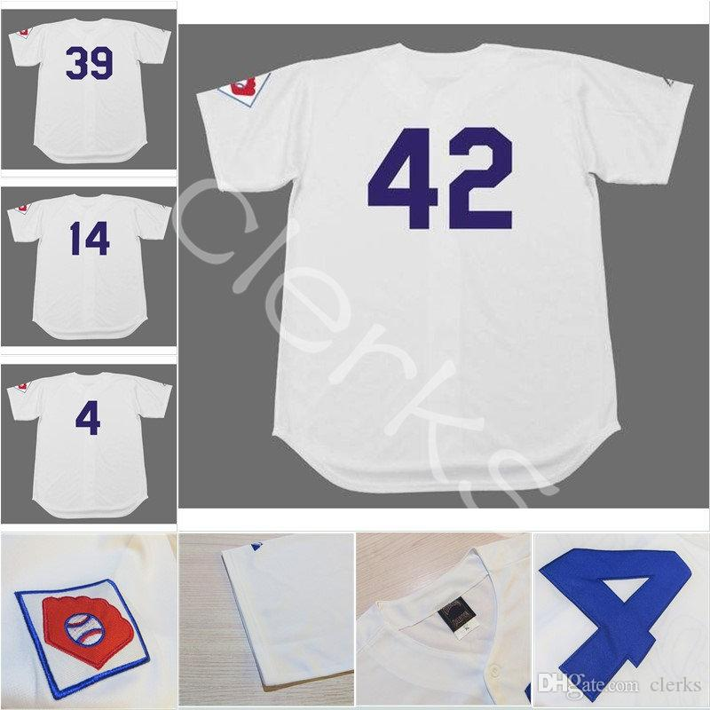 2019 1951 Brooklyn Jersey 42 Robinson 4 Duke Snider 39 Roy Campanella 14  Gil Hodges 1 Pee Wee Reese Retro Baseball Jerseys From Clerks 621fdcc247f