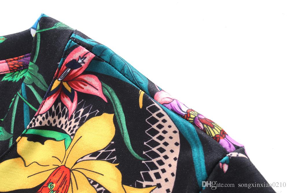 2018 NUEVA Venta Caliente de la Camiseta de Los Hombres de manga corta Camiseta de algodón de los hombres de Diseño de Marca Impreso Casual Mejor Calidad con etiquetas M-3XL