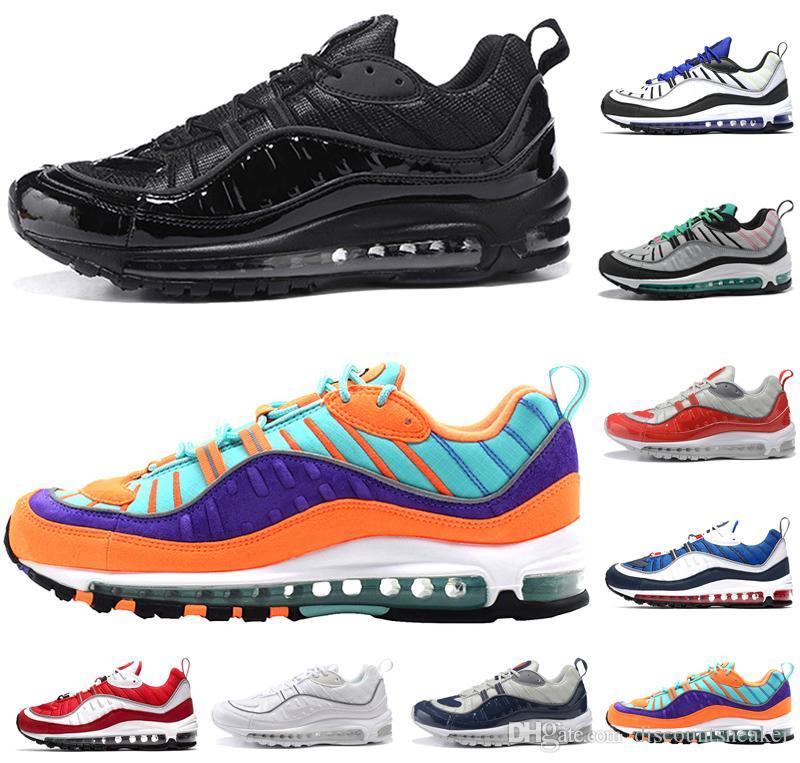 9f0f23ee702d New Cone Men Women 98 Running Shoes 98s Racer Blue Gym Red Gundam ...