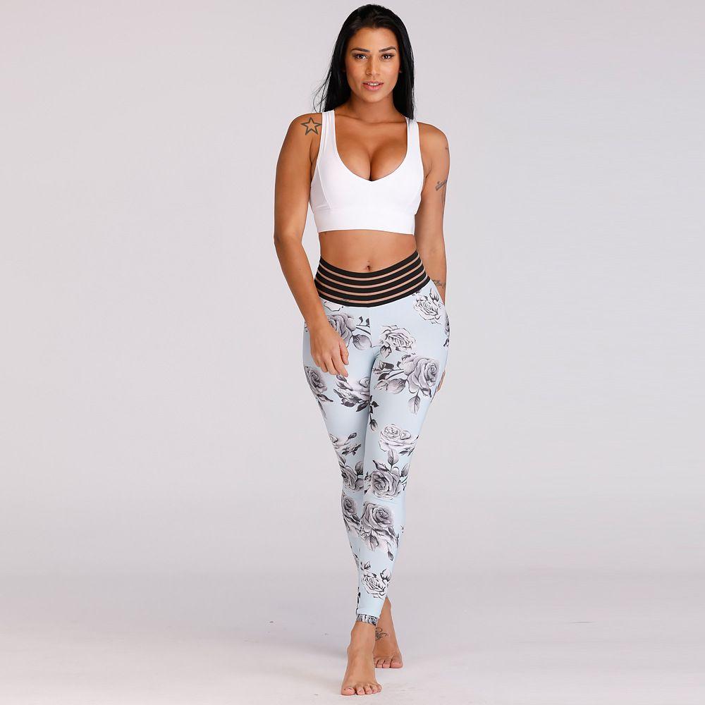 0a5a07713de62 2019 Women 3D Digital Print Push Up Hip Back Pocket Elastic Waistand Sports  Yoga Pants Tight Legging Sport Femme Fitness High Waist Gym Woman From ...