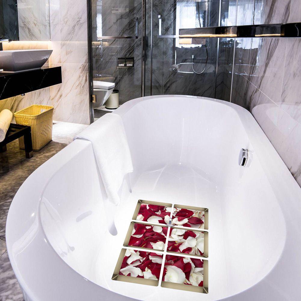 3D Wall Stickers Rose Petals Bath Stickers Waterproof Bath Decor Home Decoration Accessories DIY Poster Stickers E5M1