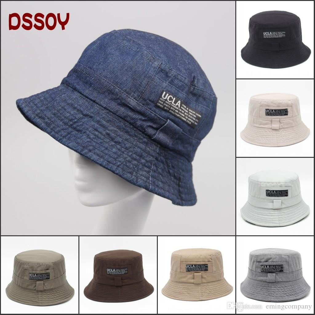 61e62924212 2019 Designer Reversible Cotton Foldable Denim Bucket Hat For Adults Mens  Womens Packable Summer Sun Beach Brim Sports Caps Cowboy Fishing Visors  From ...
