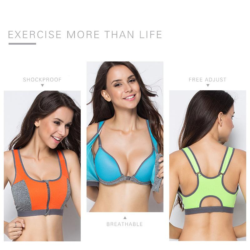 f1ffee2775e25 2019 Double Layer Zipper Sports Bra Ladies Fitness Yoga Bra Push Up High  Padded Shirt Underwear Running Vest Gym Exercise Sportswear From Duriang