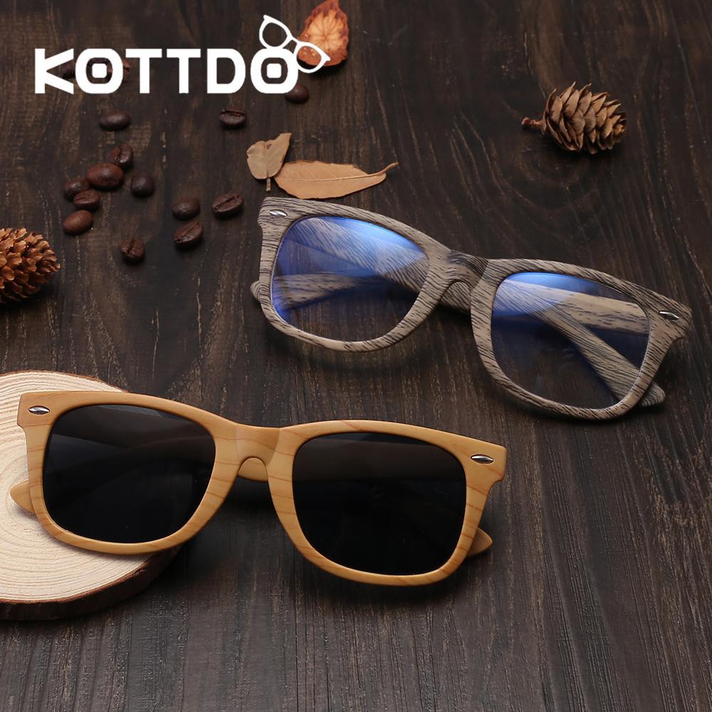 5cd4eeefc5 Compre KOTTDO 2018 Moda Retro Anteojos Cuadrados Hombres Mujeres Gafas De  Sol De Madera De La Vendimia Óptico Anti Azul Gafas Marco Goggle Eyewear A  $26.93 ...