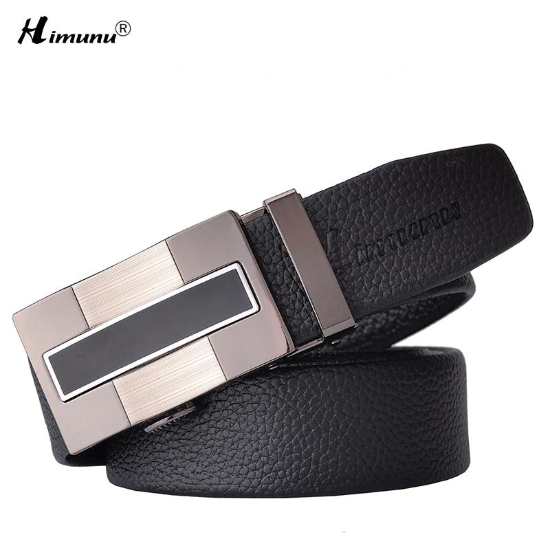 00b1f43169e 100% First layer leather belt Natural cowhide leather Pattern black belts  for men Hollow Relief drawing Automatic Buckle Retail