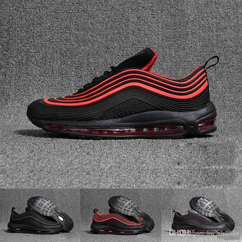 best sneakers ecc94 73364 Acquista Nike Air Max Hot Sneaker Classic 97 Scarpe Da Uomo E Da Donna In  Oro Nero E Bianco Sportivo Da Allenamento A Cuscino D aria In Mesh Scarpe  Da Corsa ...