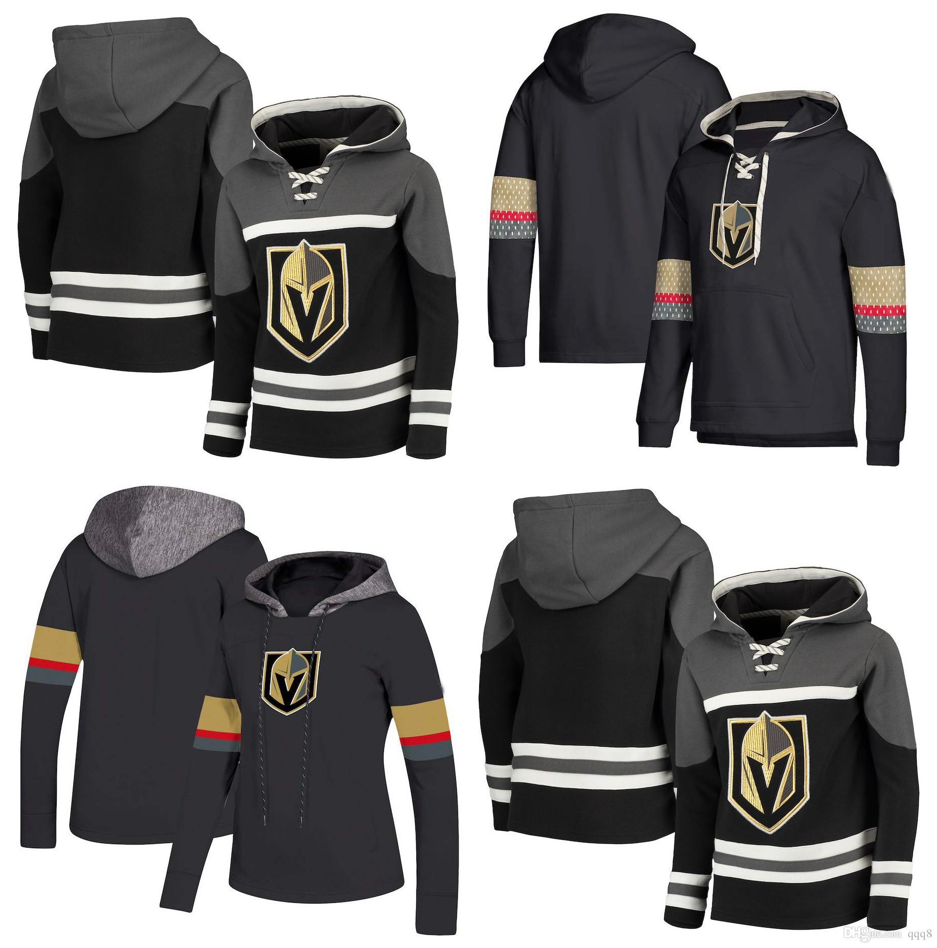 new concept c67a6 2435e Vegas Golden Knights Hoodie Marc-Andre Fleury William Karlsson Reilly Smith  Tuch Max Pacioretty Marchessault Hunt Stitched Hockey Pullover