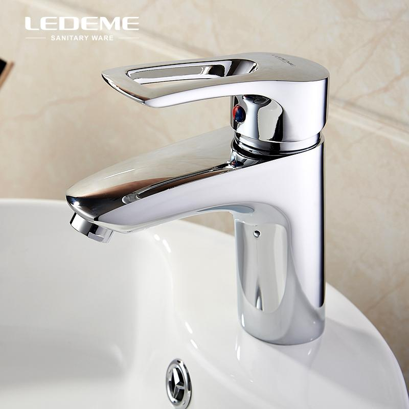 LEDME Bathroom Faucet Single Handle Lavatory Faucet Basin Sink Mixer ...