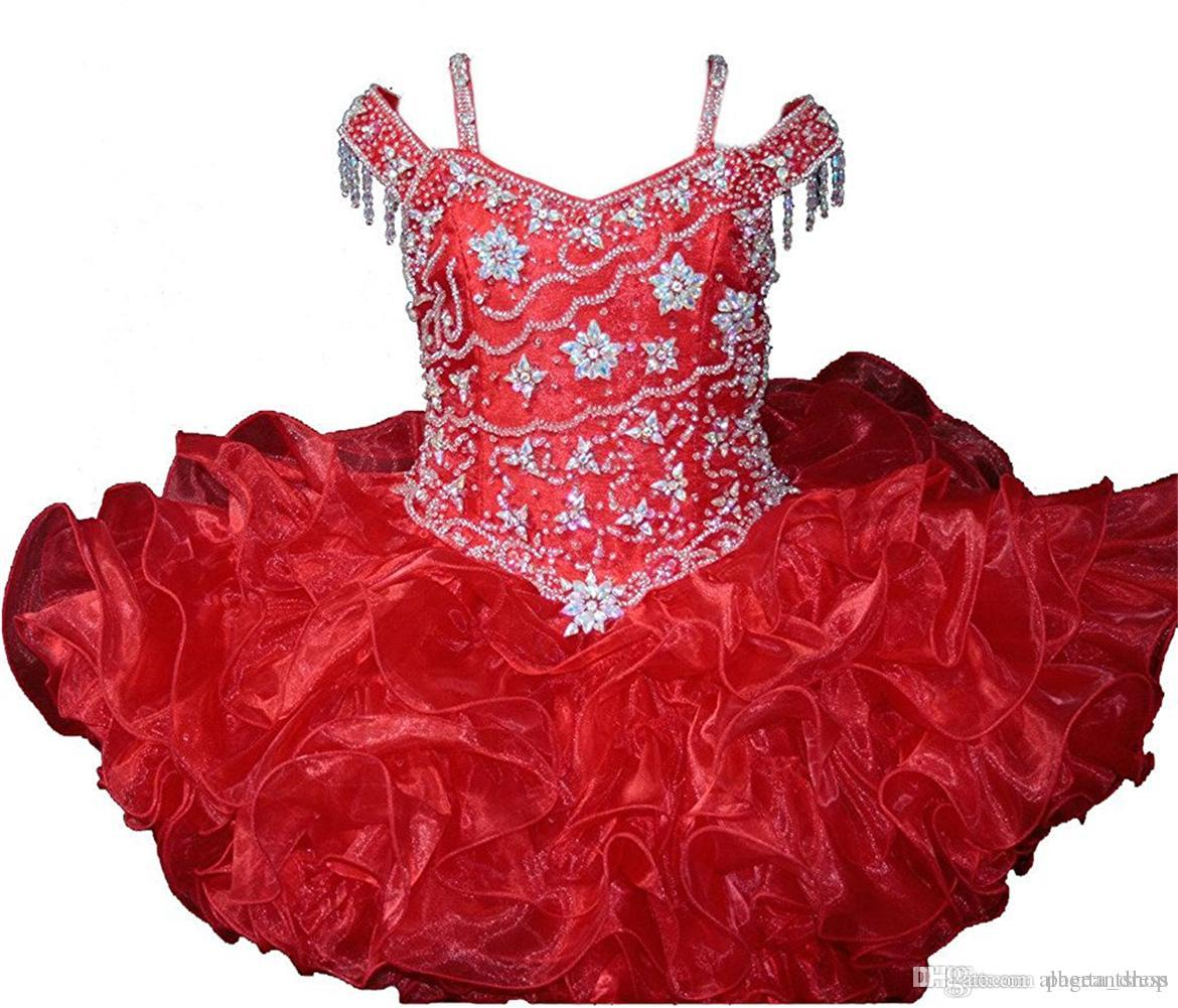 Toddler Baby Girls Pageant Cupcake Dresses Infant Special Occasion Skirts Toddler Tutu Birthday Prom Party Short Pageant Gowns