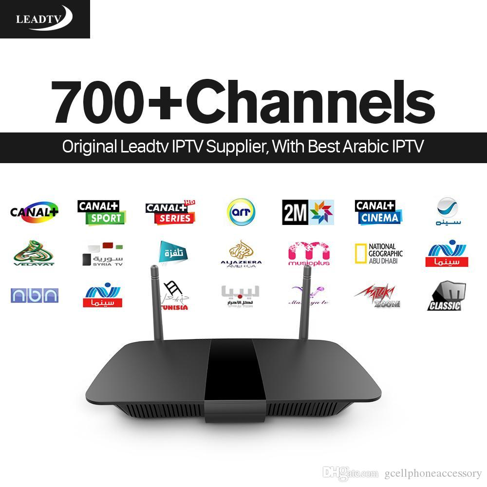 Arabic IPTV Box Smart Android TV Box Leadtv with 700 Channels IPTV  Subscription Europe H 265 Canal Plus French STB IPTV Set Top Box