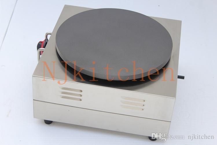 Ücretsiz Kargo Ticari Kullanım 110 v 220 v Otomatik Elektrikli Krep Gözleme Makinesi Makinesi Ekipmanları Demir Pan Satılık