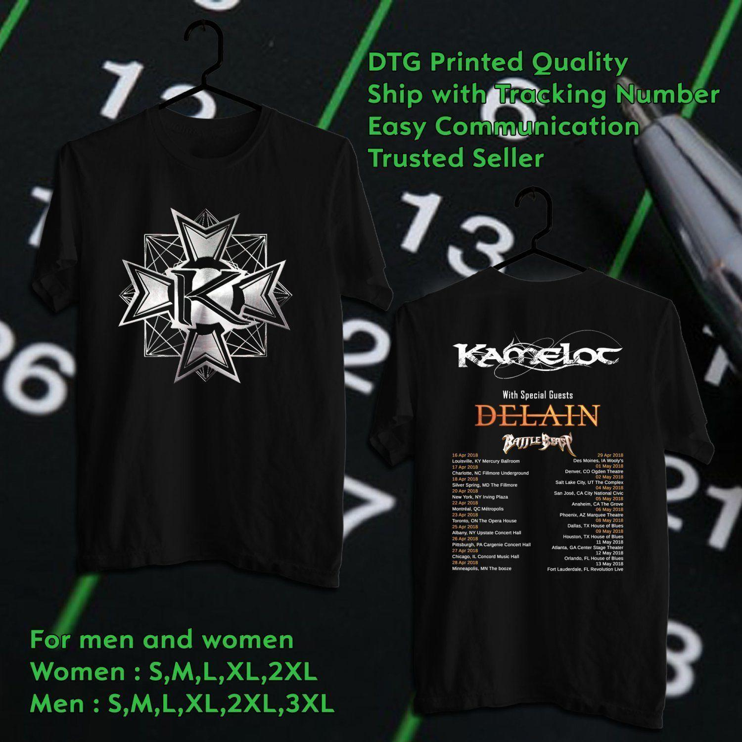 2018 Kamelot On North America Tour T Shirt Size S To 5xl 2018 New