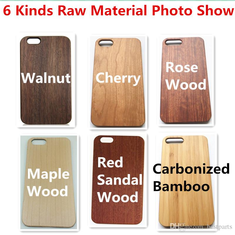 Style No. 13 Elephant Unique Stylish Classy Snap-On Real Wood Wooden Bamboo TPU Back Cover Case for iPhone X 8 7 6S 6 Plus 5 5S SE