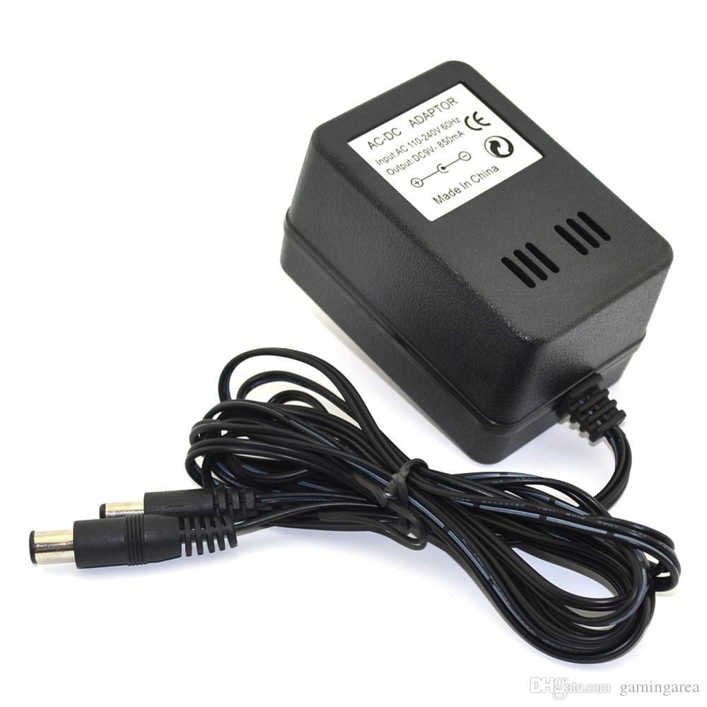 Universal 3 en 1 Adaptador de CA enchufe de EE. UU. Cargador de fuente de alimentación para SNES NES Sega Génesis 1 Accesorios de juegos de alta calidad.