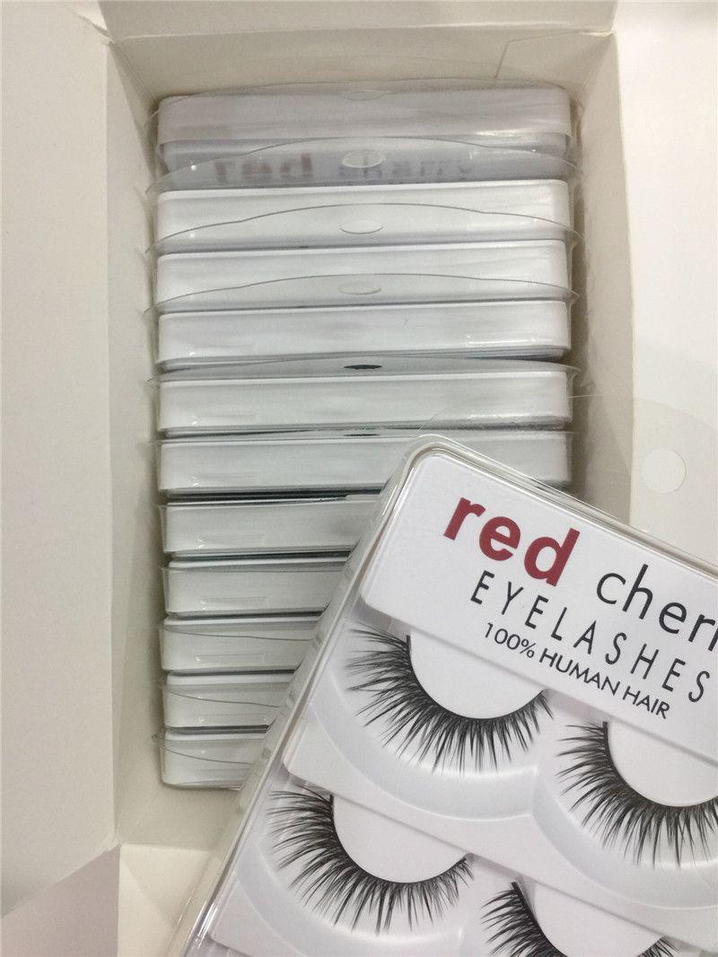 HOT 메이크업 레드 체리 가짜 속눈썹 5 개 / 팩 12 개 스타일 Natural Long Professional 메이크업 Big eyes 고품질 DHL 배송
