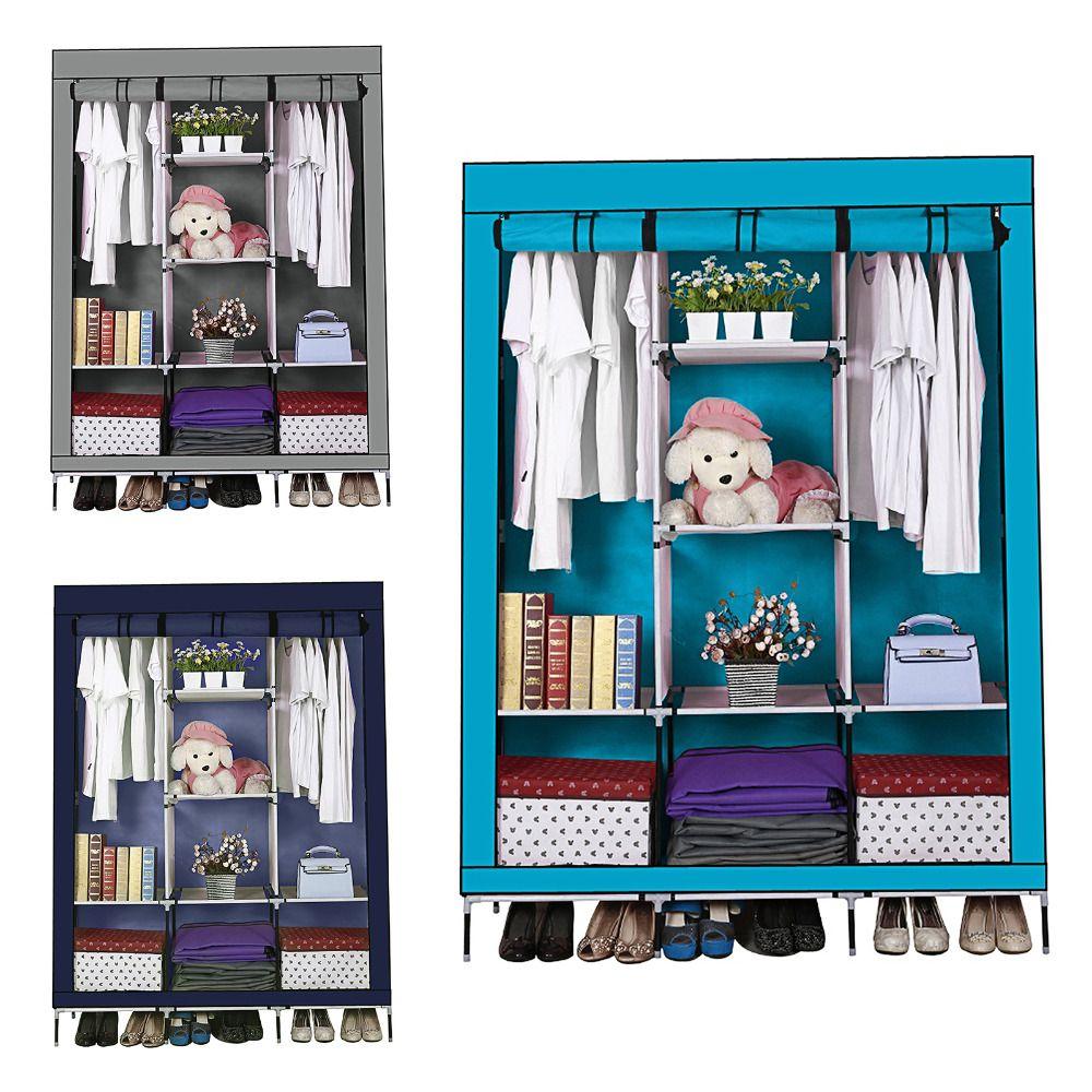 2018 3 Rolling Door Wardrobe Closet Large Simple Cabinets Simple
