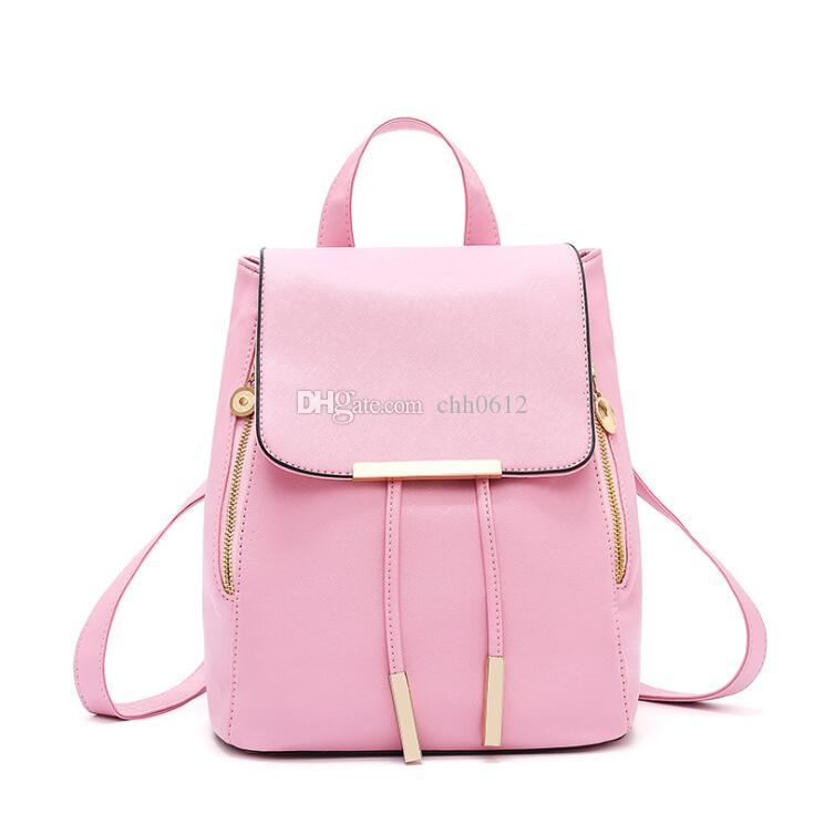 ec7fff0b5e New Women Backpack For Teenage Girls Preppy Style School Bag PU Leather Backpacks  Ladies High Quality Top Handle Backpack Girls Backpacks Drawstring ...