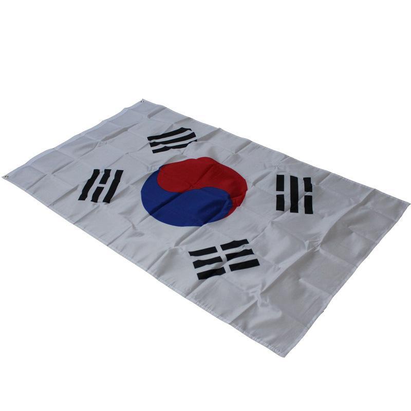 Büyük Boy 90 * 150 cm Güney Kore Ulusal Bayrak Taegeukgi Bayrakları-Polyester Malzeme Kore Ulusal Afiş 3x5ft Geçit / Festival / Ev Aralık