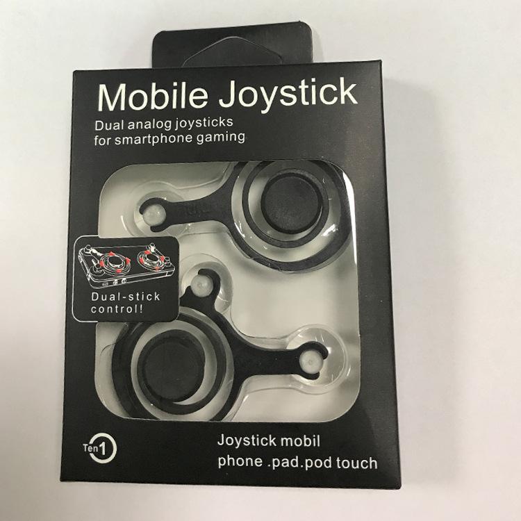 Kunststoff Joystick Spiele Richtung Rocker Stick Controller Spiel Joysticks Griffe Wiederverwendbare Bildschirm Sucker Für iPhone Android 2 teile / satz 100 stücke