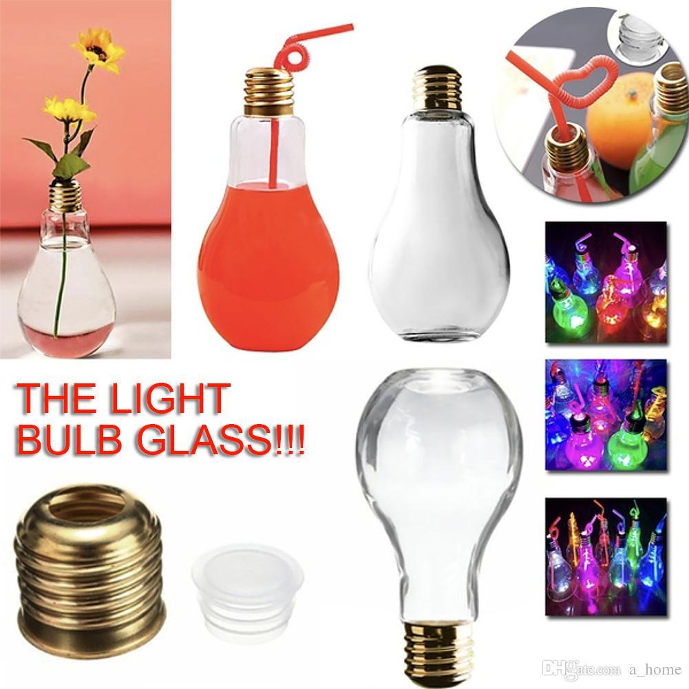 2018 100/400/500ml Innovative Light Bulb Fruit Juice Bottles ... for Lamp Bottle Juice  300lyp