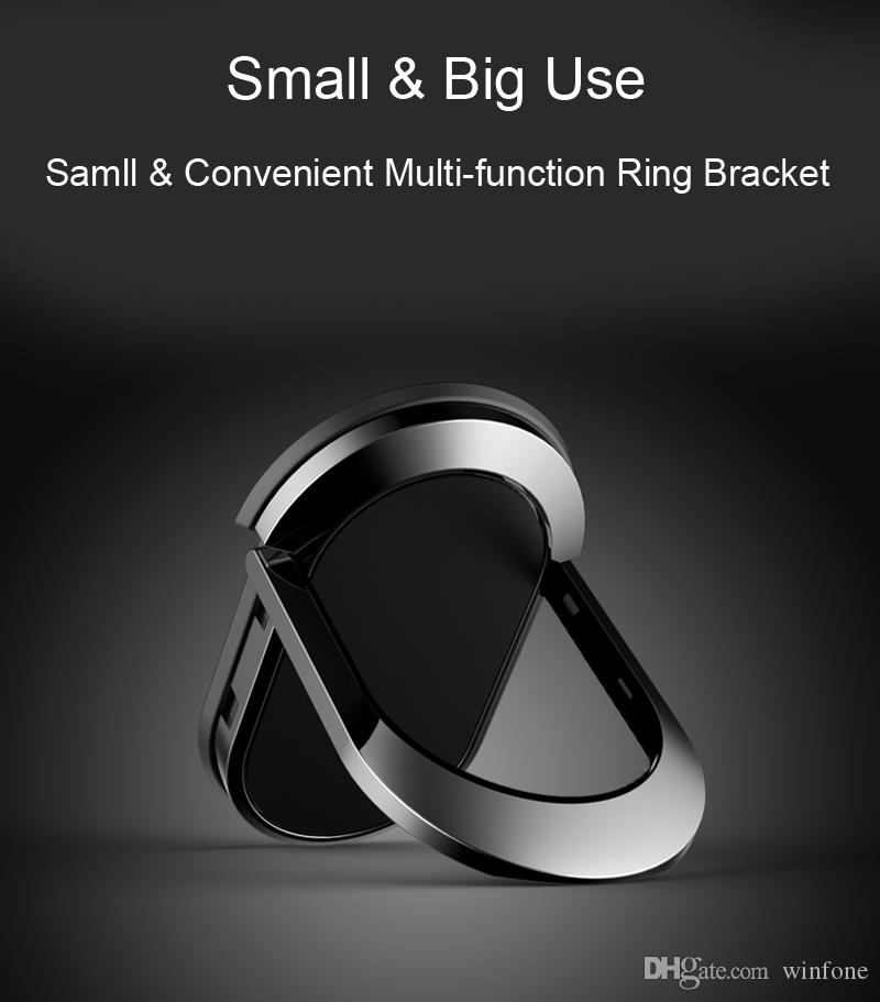 360 Degree Rotatable Metal Finger Ring Holder Smartphone Stand Holder With Magnetic For iphone Samsung Tablet