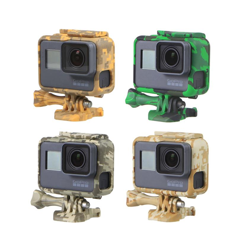 bb4c3a4d3ed3 Protection Case For Gopro Hero 5 6 Go Pro 5 6 Camouflage Skeletons Frames  Hard Bag With Protect FilmFor Gopro Accessories
