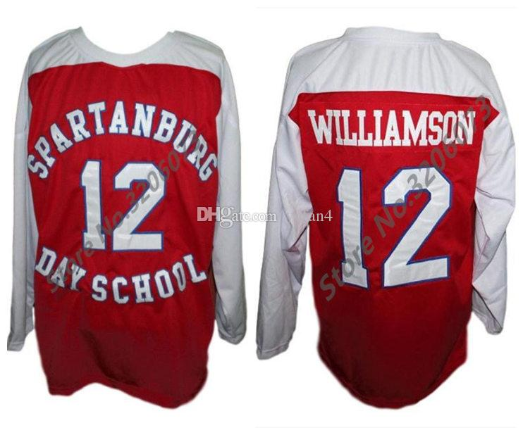 2019  12 Zion Williamson Spartanburg Day School Retro Ice Hockey Jersey  Mens Stitched Custom Any Number And Name Jerseys From Yufan4 48a7c4f1371