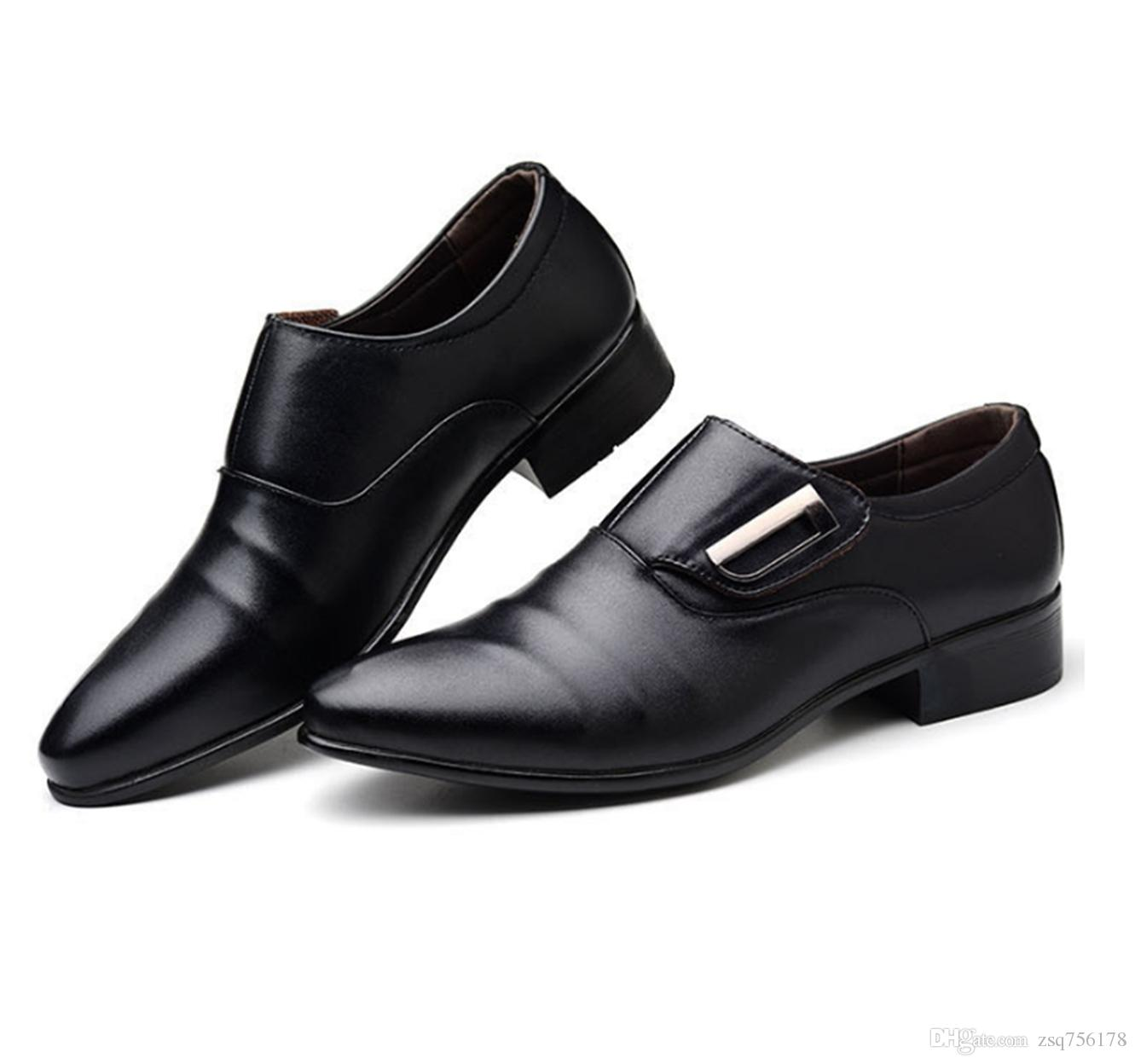 3e8dbe57d29e Men S Fashion High Quality Leather Shoes Pointed Toe Business Dress Formal  Office Work Shoes Wedding Party Prom Shoes Brown Dress Shoes Leather Shoes  For ...