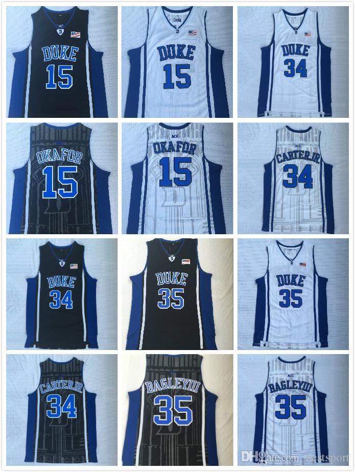 Men NCAA Duke Blue Devils 35 Marvin Bagley 34 Wendell Carter Jr 15 Jahlil  Okafor Stitched College Basketball Jerseys S-2XL Basketball Jerseys 15  Jahlil ... 4a602ef56
