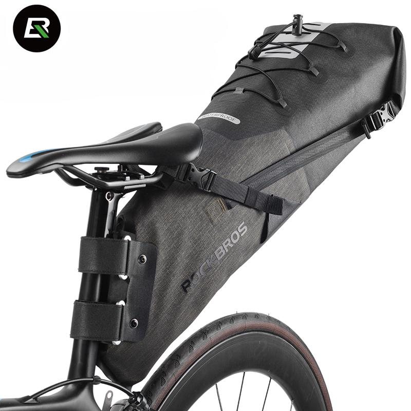 22169cf920 Rockbros MTB Road Bike Bag High Capacity Waterproof Bicycle Bag Cycling  Rear Seat Saddle Bike Accessories Bolsa Bicicleta Waterproof Pannier  Backpack Bags ...