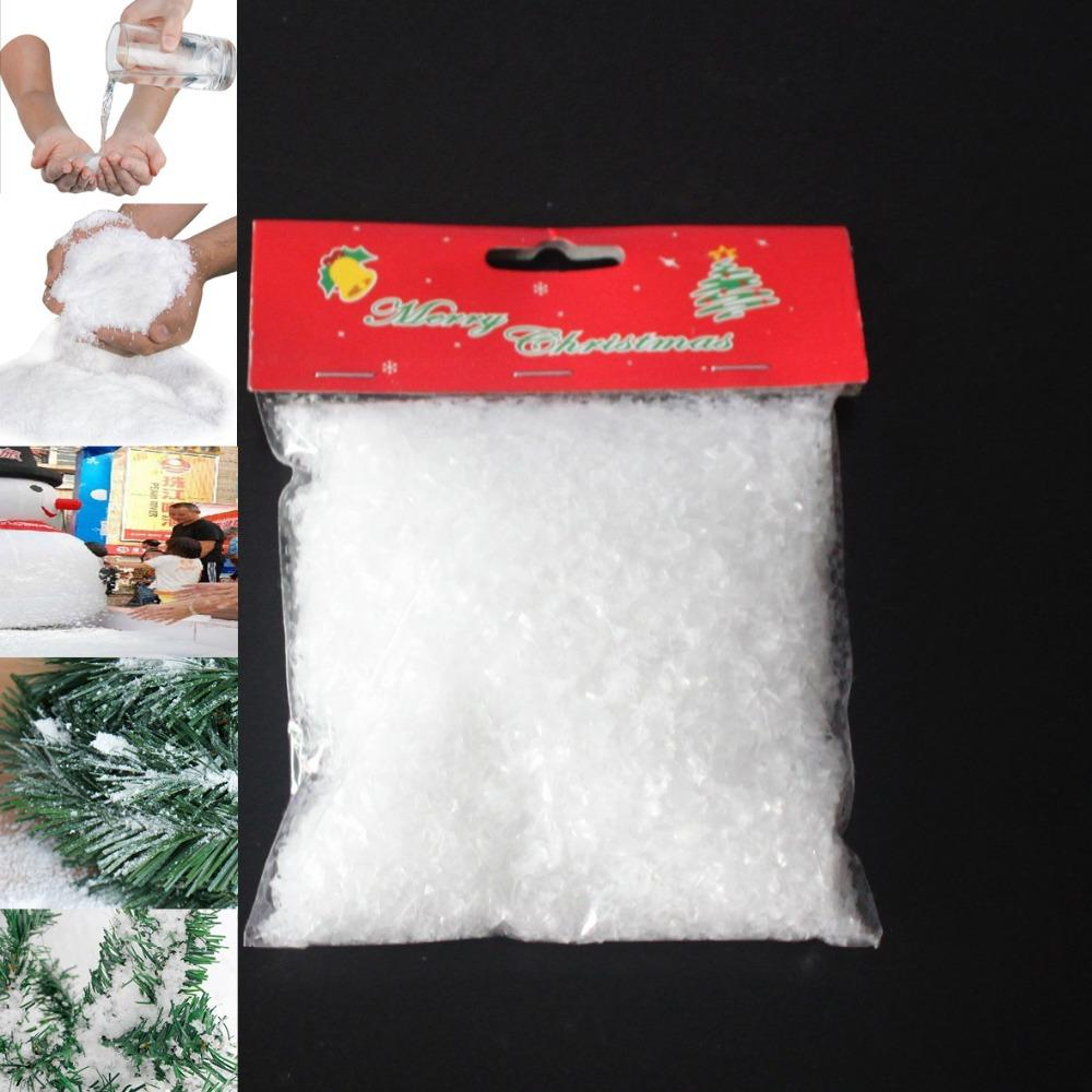 5Bags Total 1kg Artificial Snow New Year Christmas Tree Decorations ...