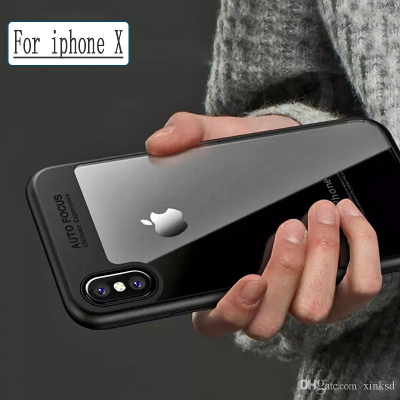 For iPhone 8 Plus iPhone X Phone Case Back Cover Case TPU Clear Shockproof Case Phone Protector for Iphone 8