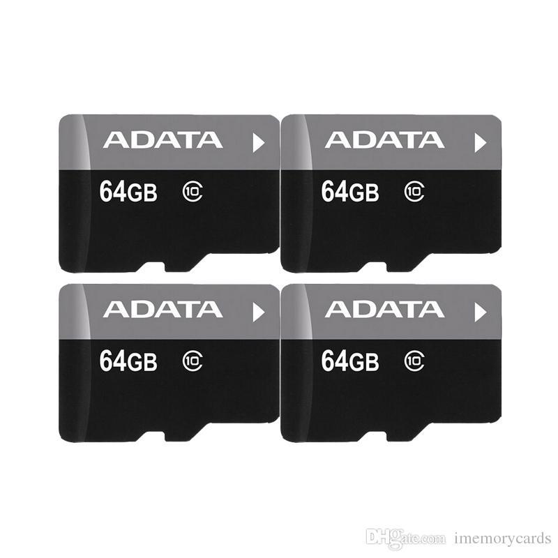 2018 뜨거운 판매 ADATA 100 % 진짜 1GB 2GB 4GB 8GB 16GB 32GB 64GB TF 메모리 카드 어댑터 소매 패키지 무료 배송