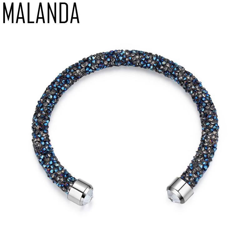 bda31d911e56 Compre MALANDA Marca Magic Charm Bracelets Brazaletes Para Las Mujeres  Crystal De Lujo Brazalete De La Boda Regalo De La Joyería De Moda A  14.13  Del ...