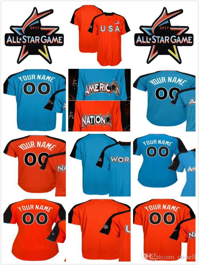 2017 All-Star Game Custom Mens Ladies Kids National League American ... 0ced05aa3