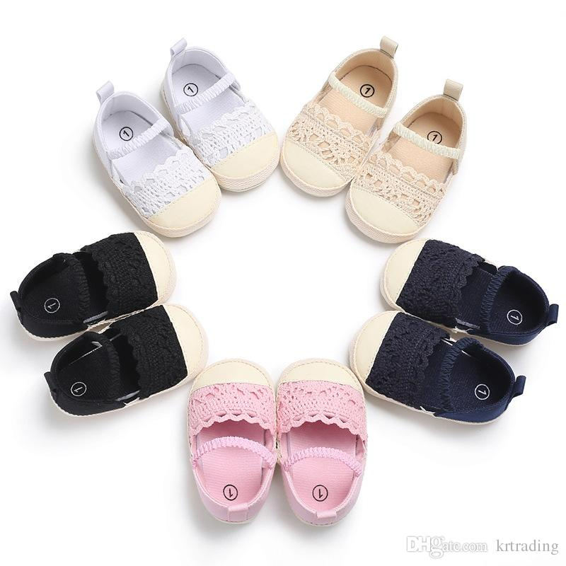 Infants Girls lace wrok first walkers cute Toddlers solid color princess casual shoes sweet baby soft sole shoes sandals 5 colors 3 sizes